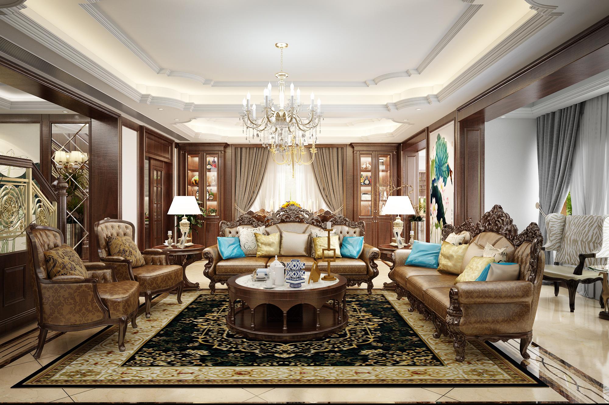 thiết kế nội thất Biệt Thự tại Hà Nội Saola 1 1562643320
