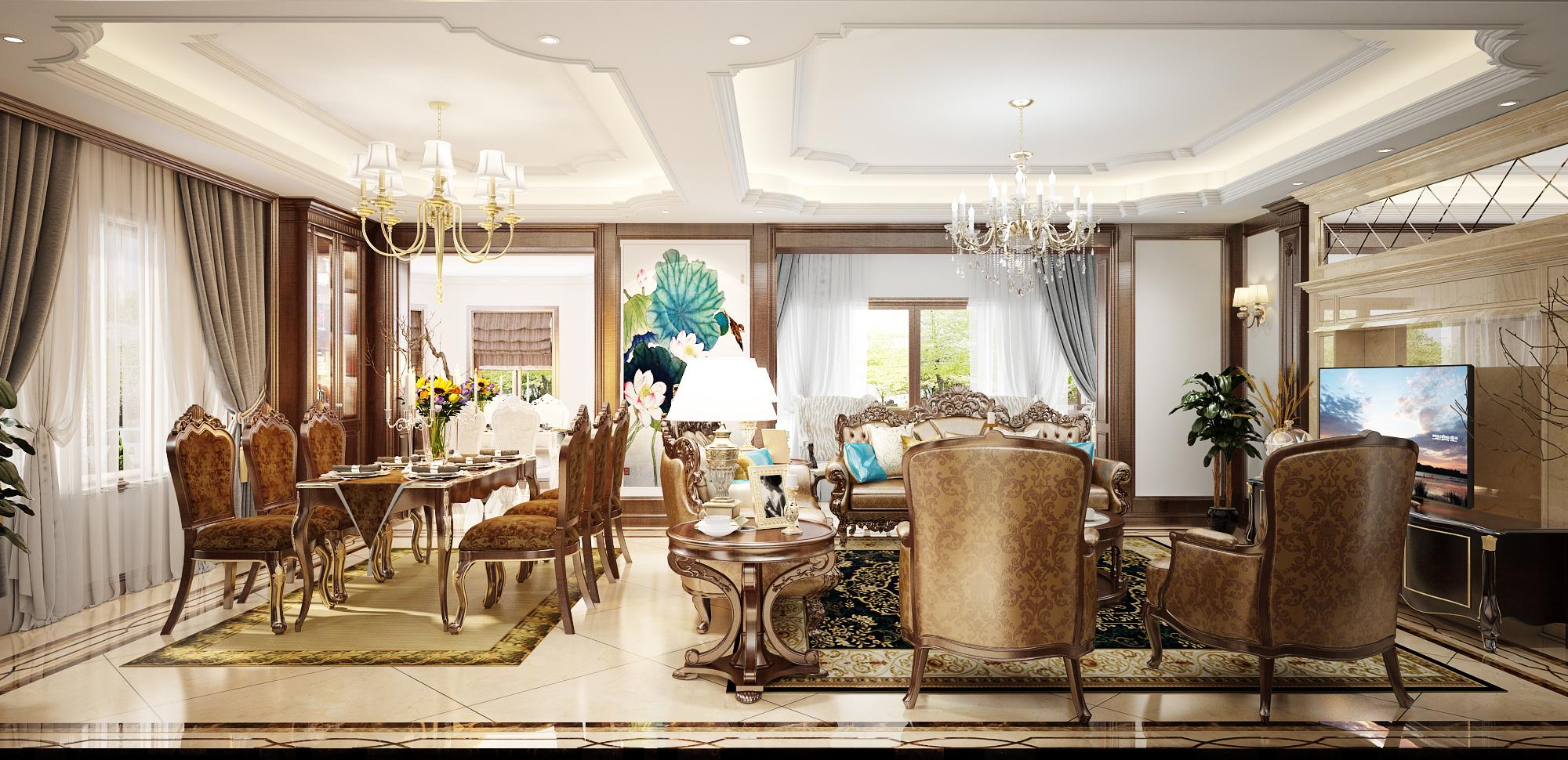 thiết kế nội thất Biệt Thự tại Hà Nội Saola 4 1562643323
