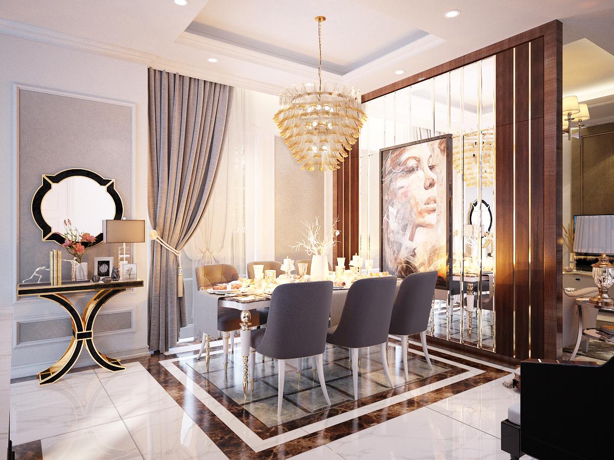 thiết kế nội thất Biệt Thự tại Hồ Chí Minh Biệt Thự Chị Thu 2 1550734330