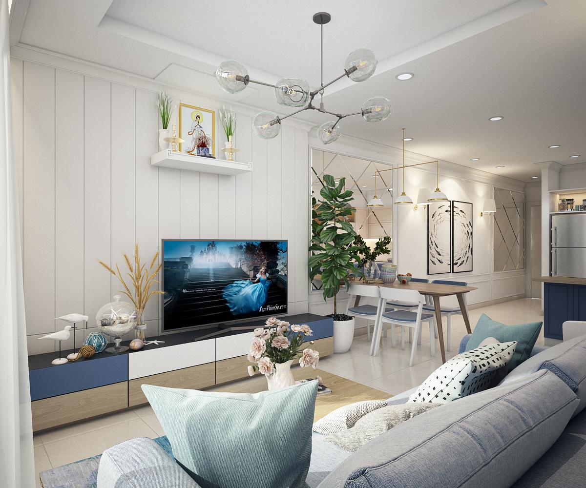 thiết kế nội thất chung cư tại Hồ Chí Minh Chị Ngọc_Goldview 0 1550734615