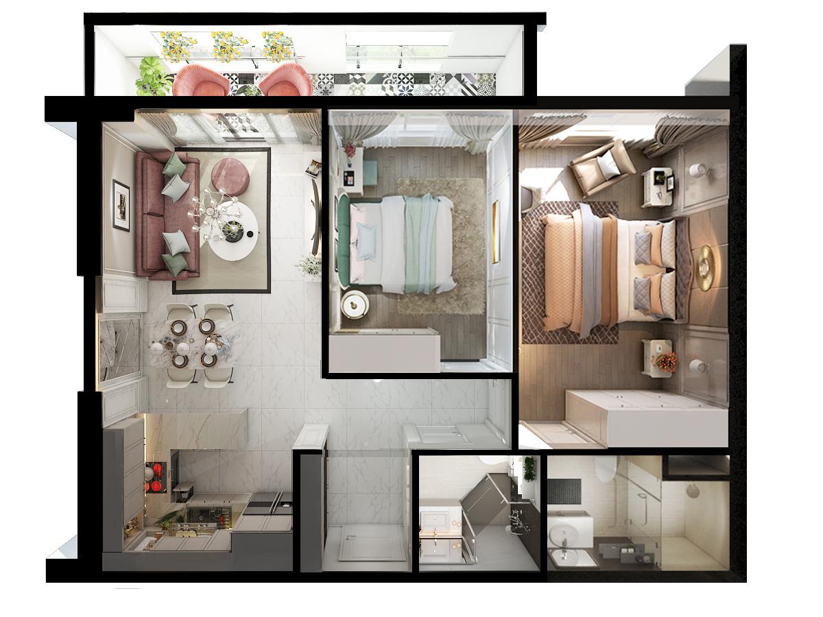 thiết kế nội thất chung cư tại Hồ Chí Minh Chi Phung_KINGTON-K18 0 1562641134