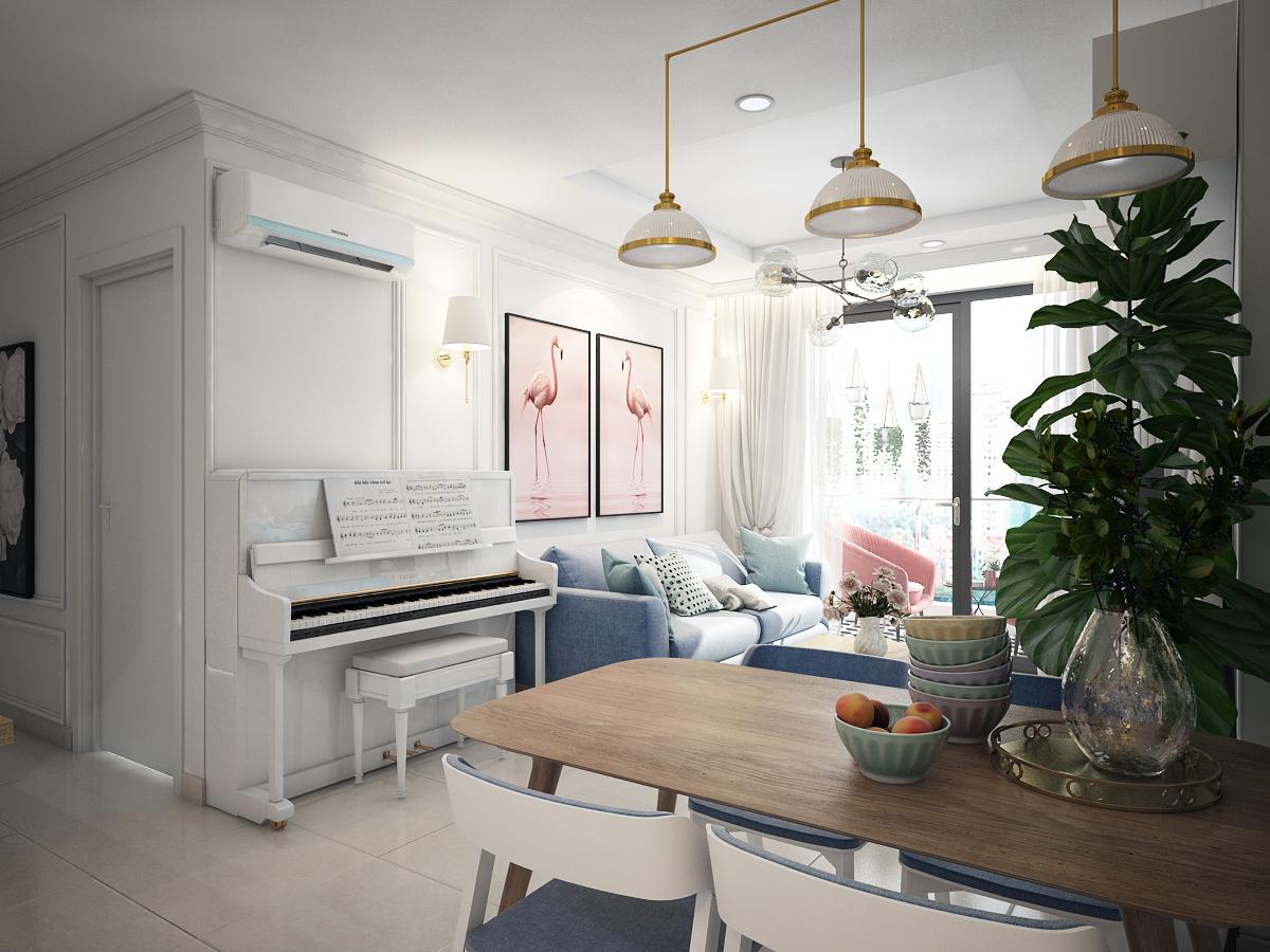 thiết kế nội thất chung cư tại Hồ Chí Minh Chị Ngọc_Goldview 1 1550734615