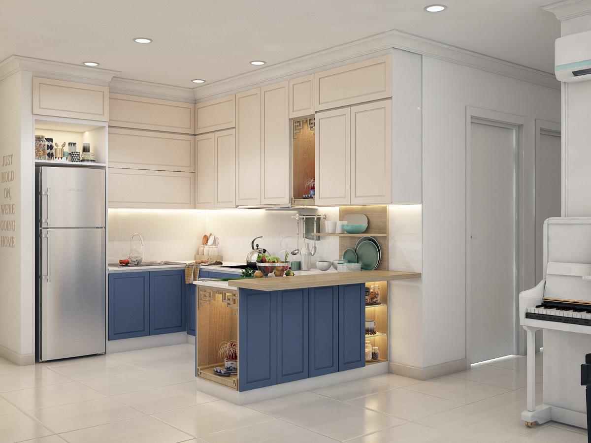thiết kế nội thất chung cư tại Hồ Chí Minh Chị Ngọc_Goldview 2 1550734615