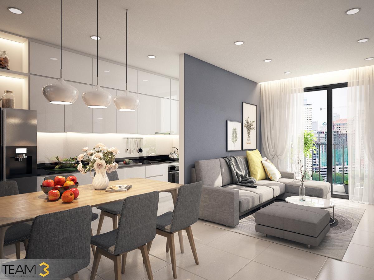 thiết kế nội thất chung cư tại Hồ Chí Minh Diamond Loutus 2 1562643041