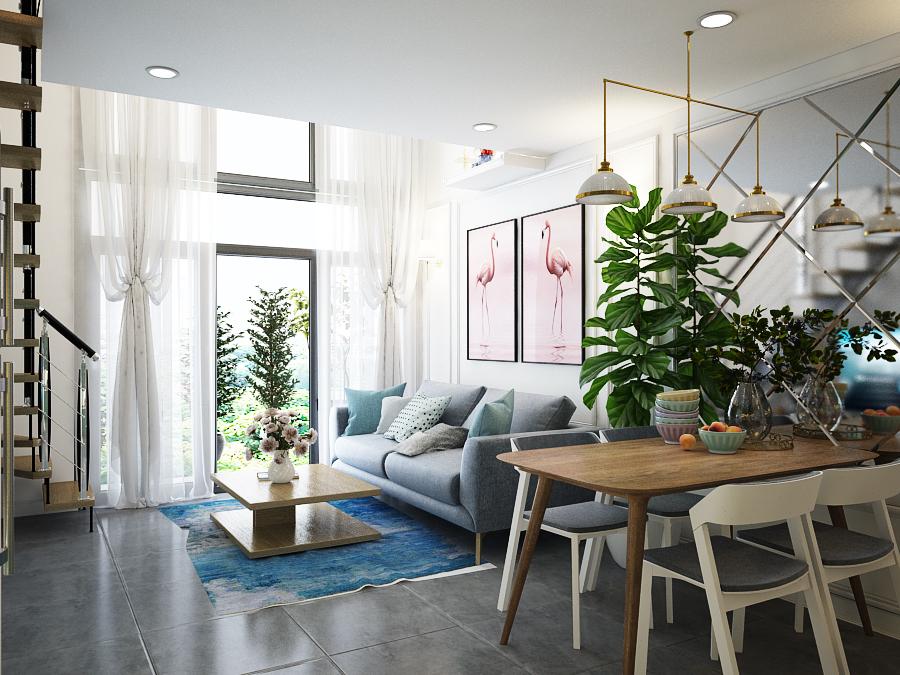 thiết kế nội thất chung cư tại Hồ Chí Minh Sky 9 2 1562643460