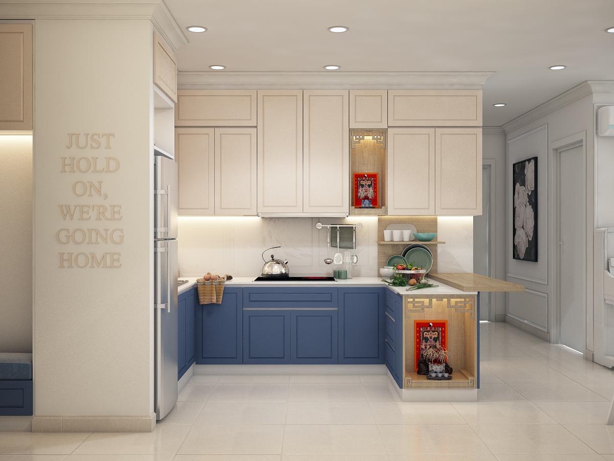 thiết kế nội thất chung cư tại Hồ Chí Minh Chị Ngọc_Goldview 3 1550734615