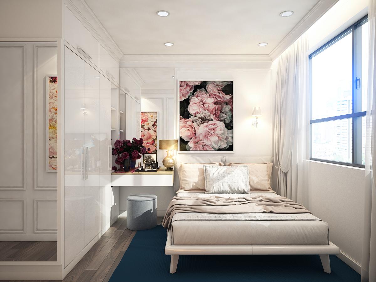 thiết kế nội thất chung cư tại Hồ Chí Minh Chị Ngọc_Goldview 4 1550734615