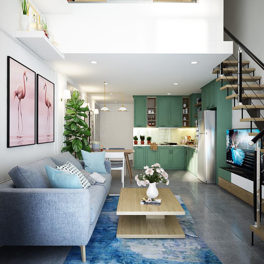 thiết kế nội thất chung cư tại Hồ Chí Minh Sky 9 4 1562643461
