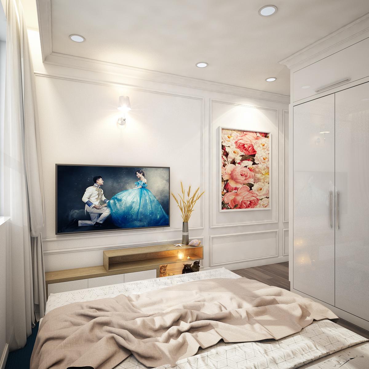 thiết kế nội thất chung cư tại Hồ Chí Minh Chị Ngọc_Goldview 5 1550734614