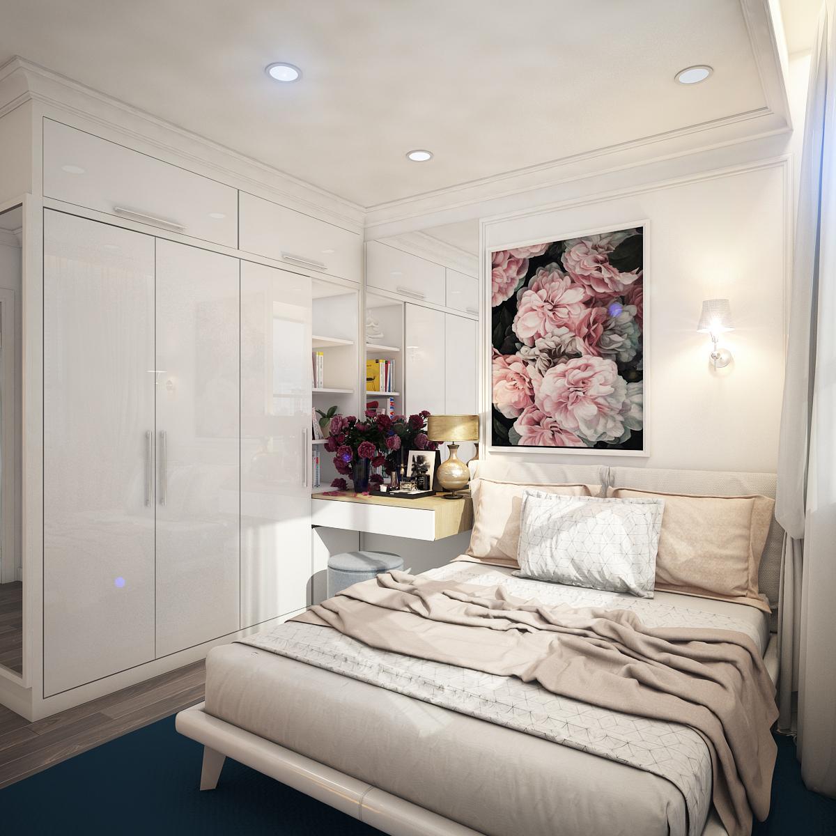 thiết kế nội thất chung cư tại Hồ Chí Minh Chị Ngọc_Goldview 6 1550734616