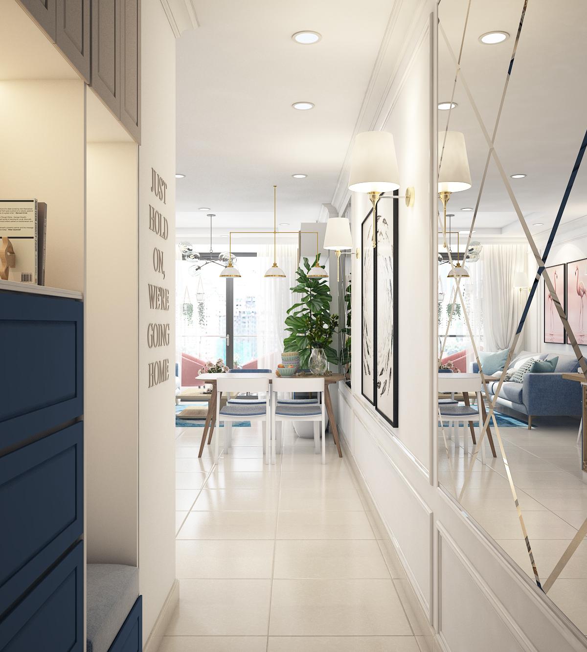 thiết kế nội thất chung cư tại Hồ Chí Minh Chị Ngọc_Goldview 8 1550734617
