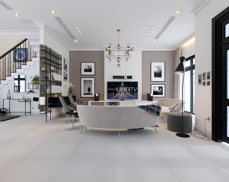 thiết kế Nội thất Biệt Thự 4 tầng Biệt thự Vinhomes - the Harmony00