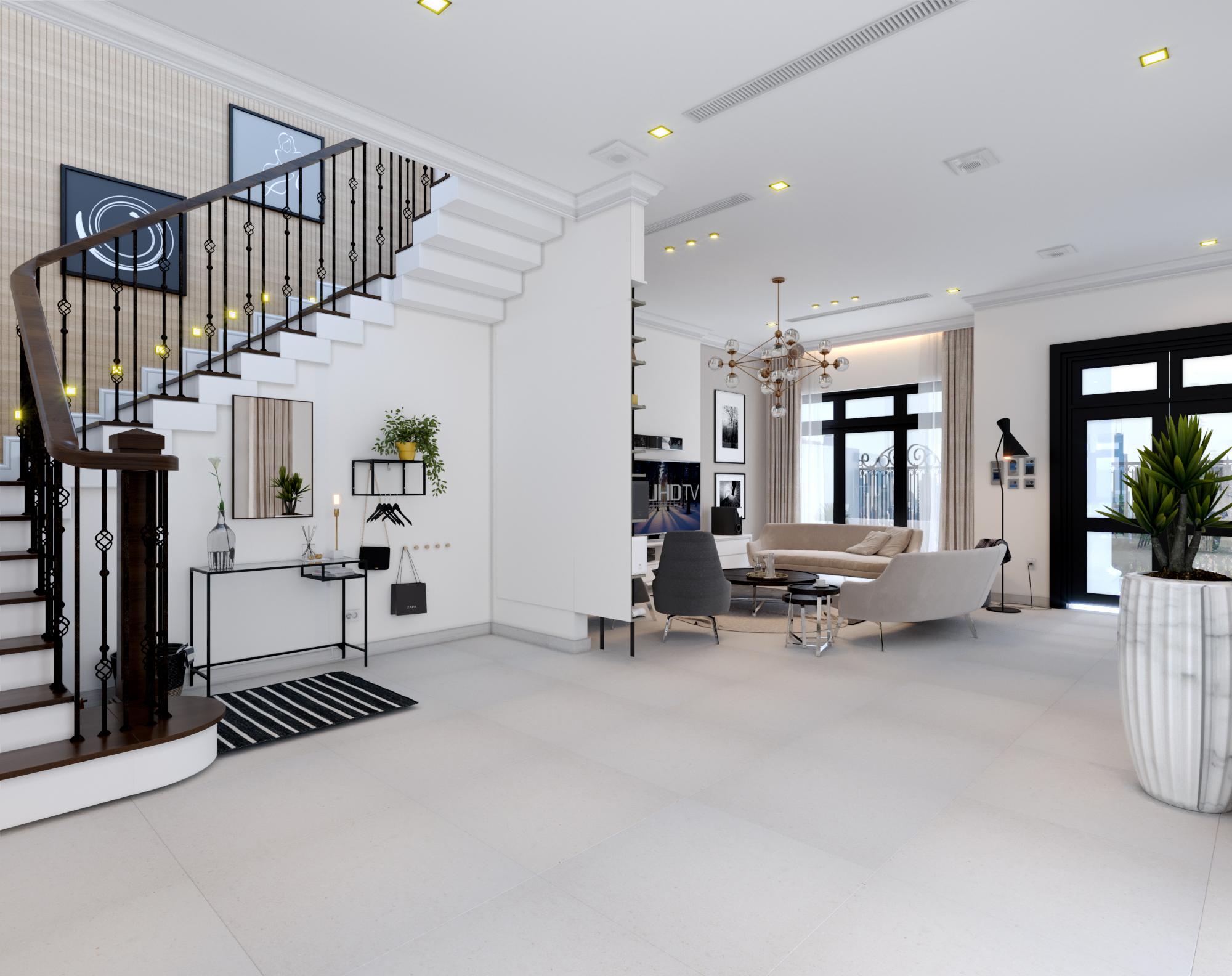 thiết kế Nội thất Biệt Thự 4 tầng Biệt thự Vinhomes - the Harmony14