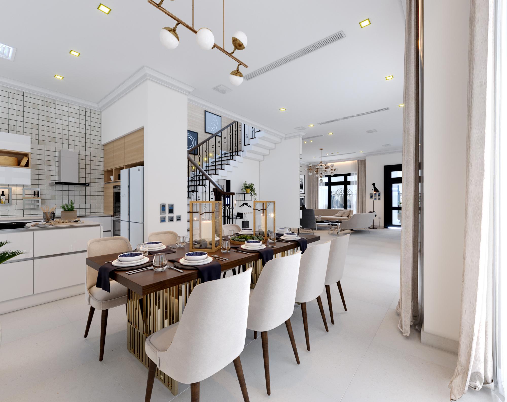 thiết kế Nội thất Biệt Thự 4 tầng Biệt thự Vinhomes - the Harmony50