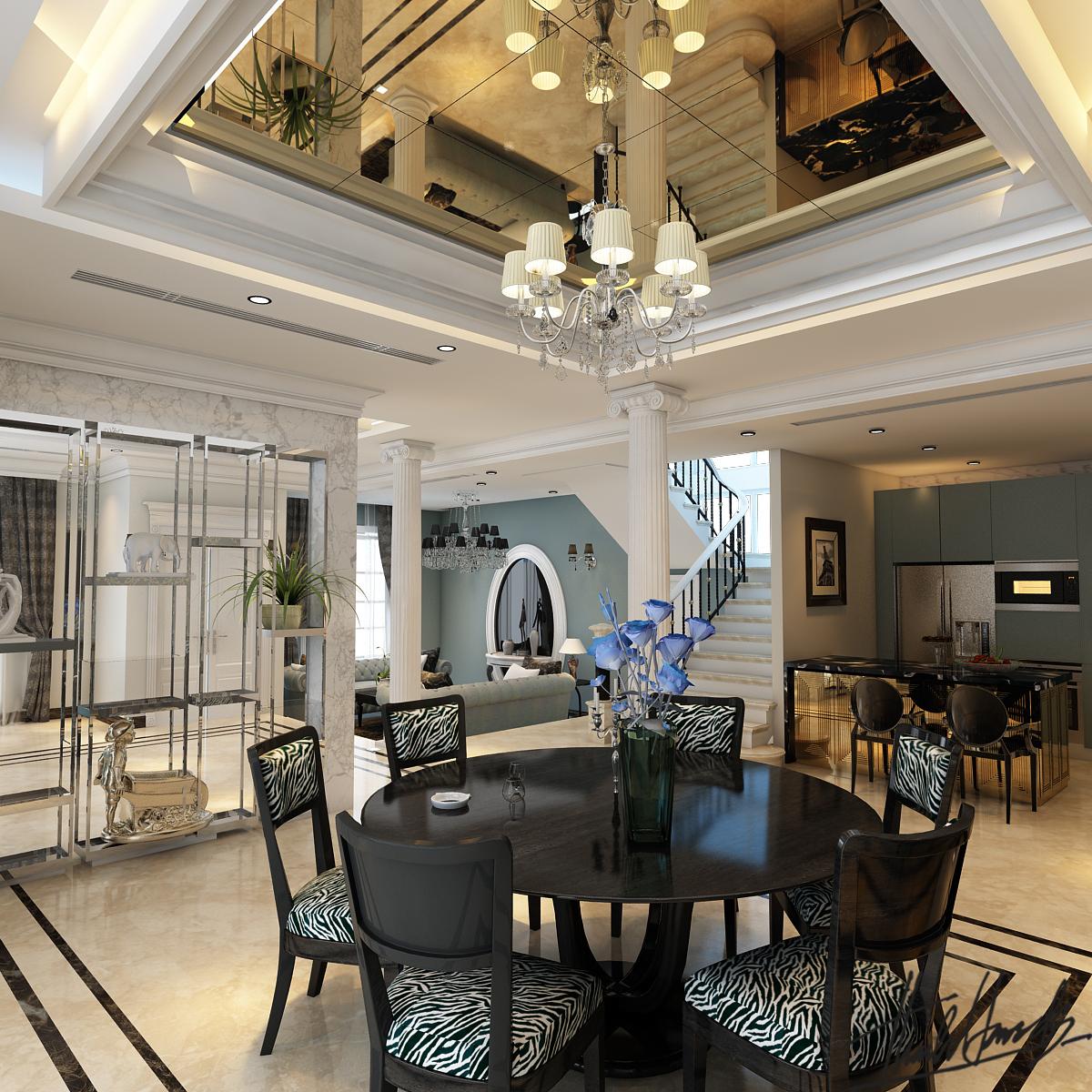 thiết kế nội thất Biệt Thự tại Hà Nội Biệt thự - Việt Hưng  10 1568273831