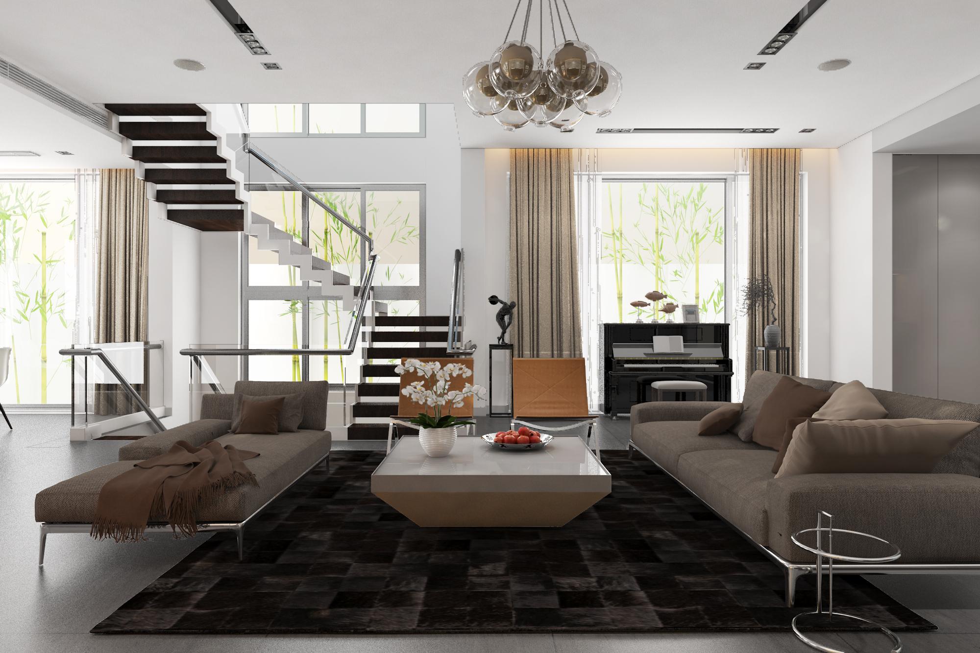thiết kế nội thất Biệt Thự tại Hà Nội bt Vinhomes - riverside 11 1568085334
