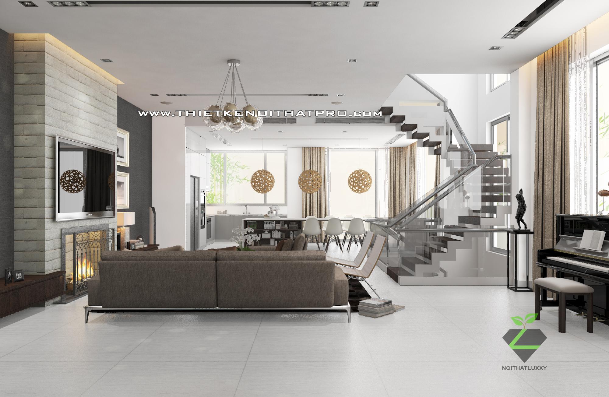 thiết kế nội thất Biệt Thự tại Hà Nội bt Vinhomes - riverside 14 1568085348