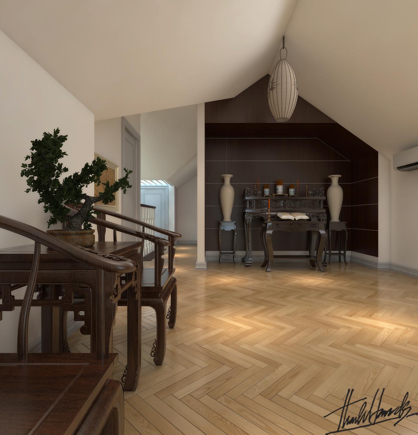 thiết kế nội thất Biệt Thự tại Hà Nội bt Vinhomes - riverside 14 1568274528