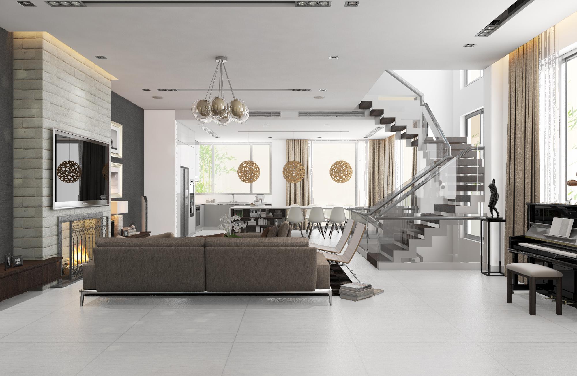 thiết kế nội thất Biệt Thự tại Hà Nội bt Vinhomes - riverside 15 1568085348
