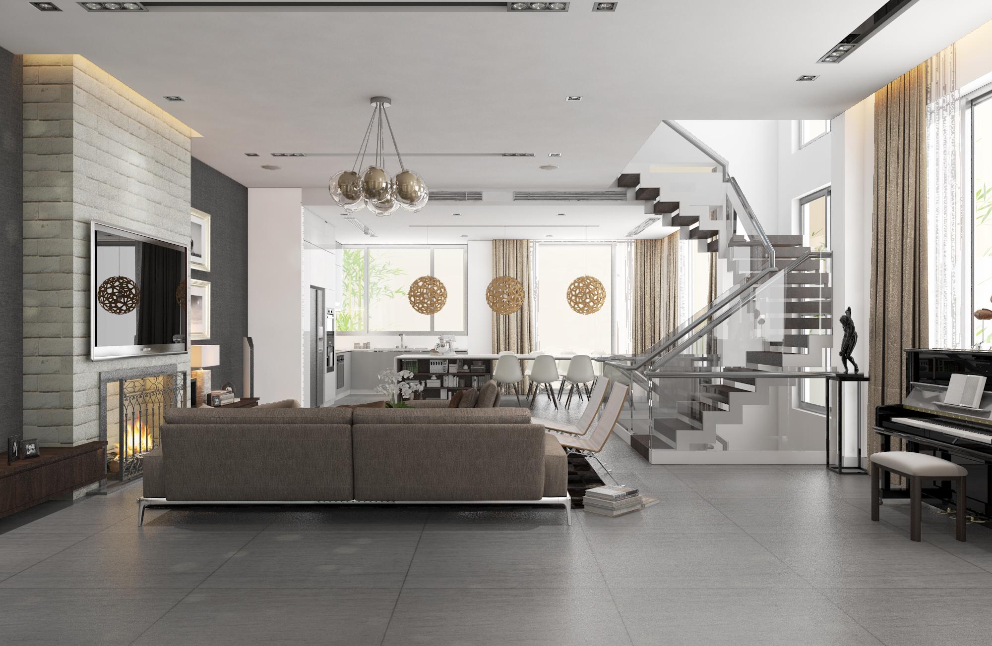 thiết kế nội thất Biệt Thự tại Hà Nội bt Vinhomes - riverside 16 1568085341