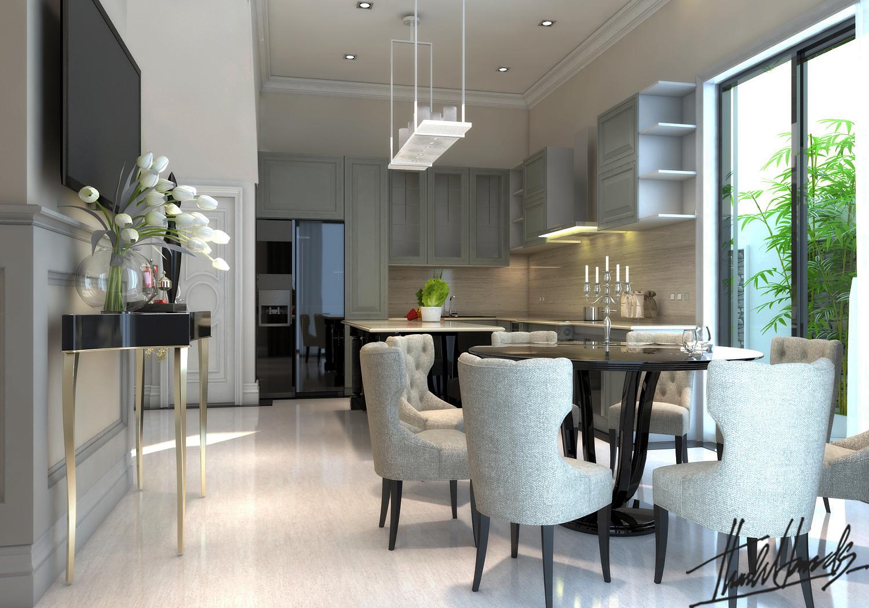 thiết kế nội thất Biệt Thự tại Hà Nội bt Vinhomes - riverside 16 1568274528