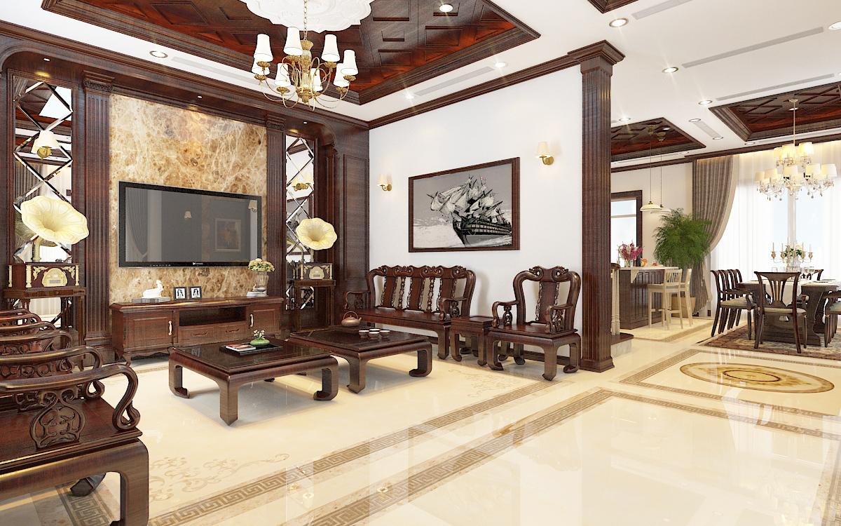 thiết kế nội thất Biệt Thự tại Hà Nội bt Vinhomes - riverside 17 1568276266