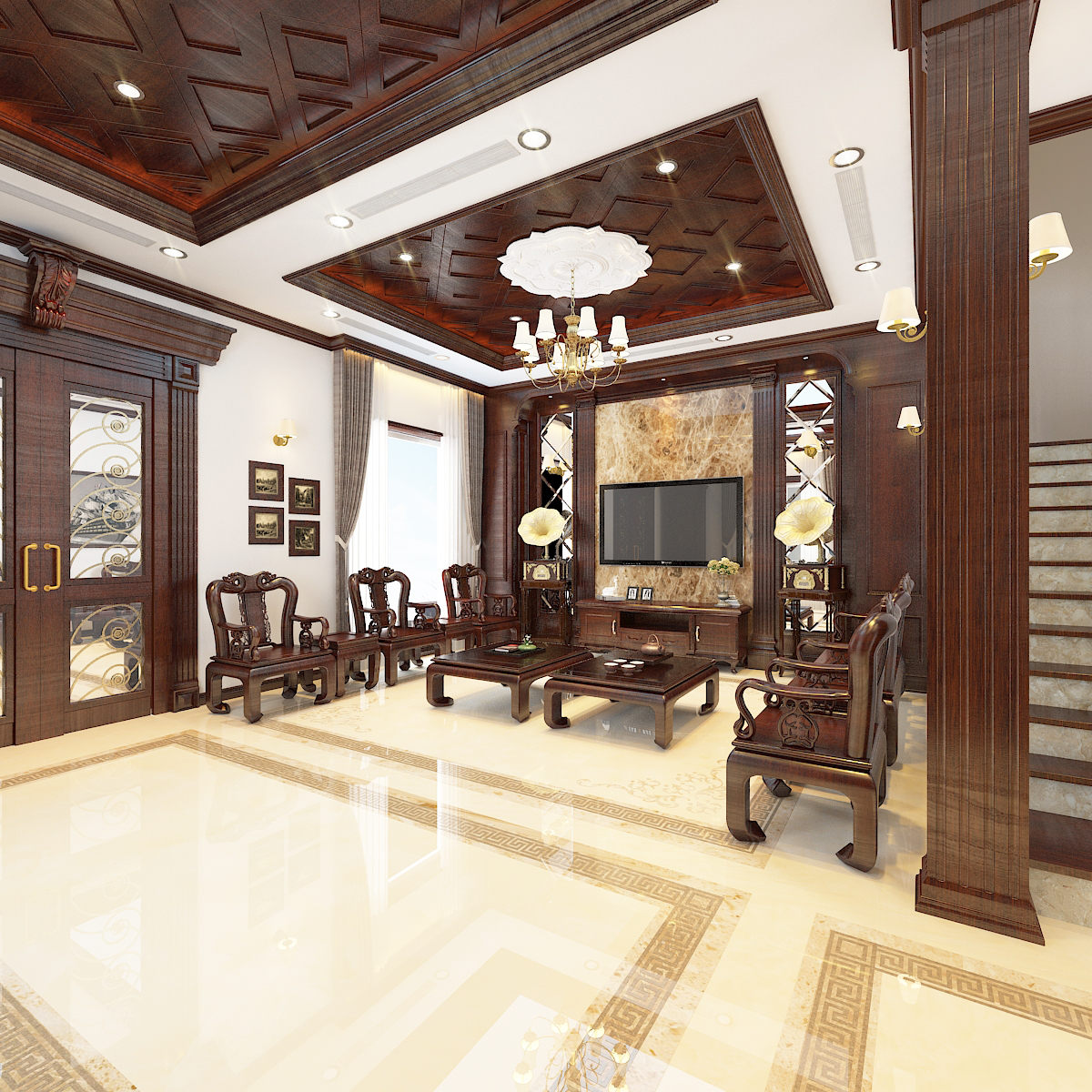 thiết kế nội thất Biệt Thự tại Hà Nội bt Vinhomes - riverside 18 1568276266