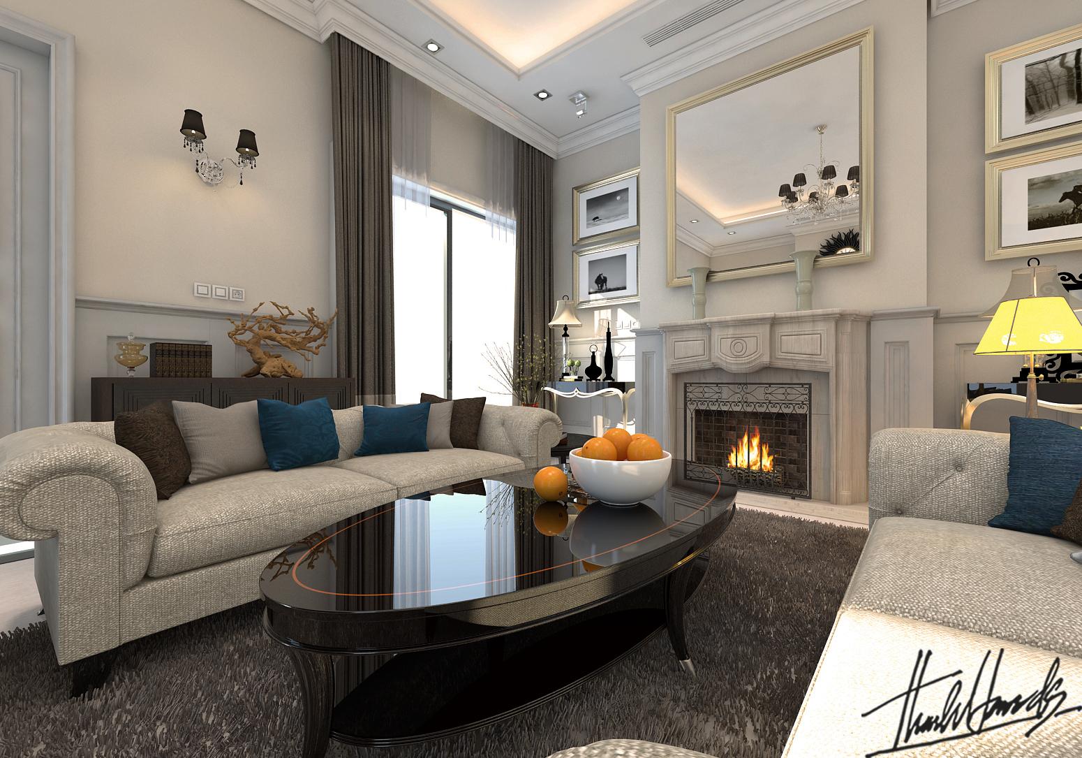 thiết kế nội thất Biệt Thự tại Hà Nội bt Vinhomes - riverside 19 1568274530