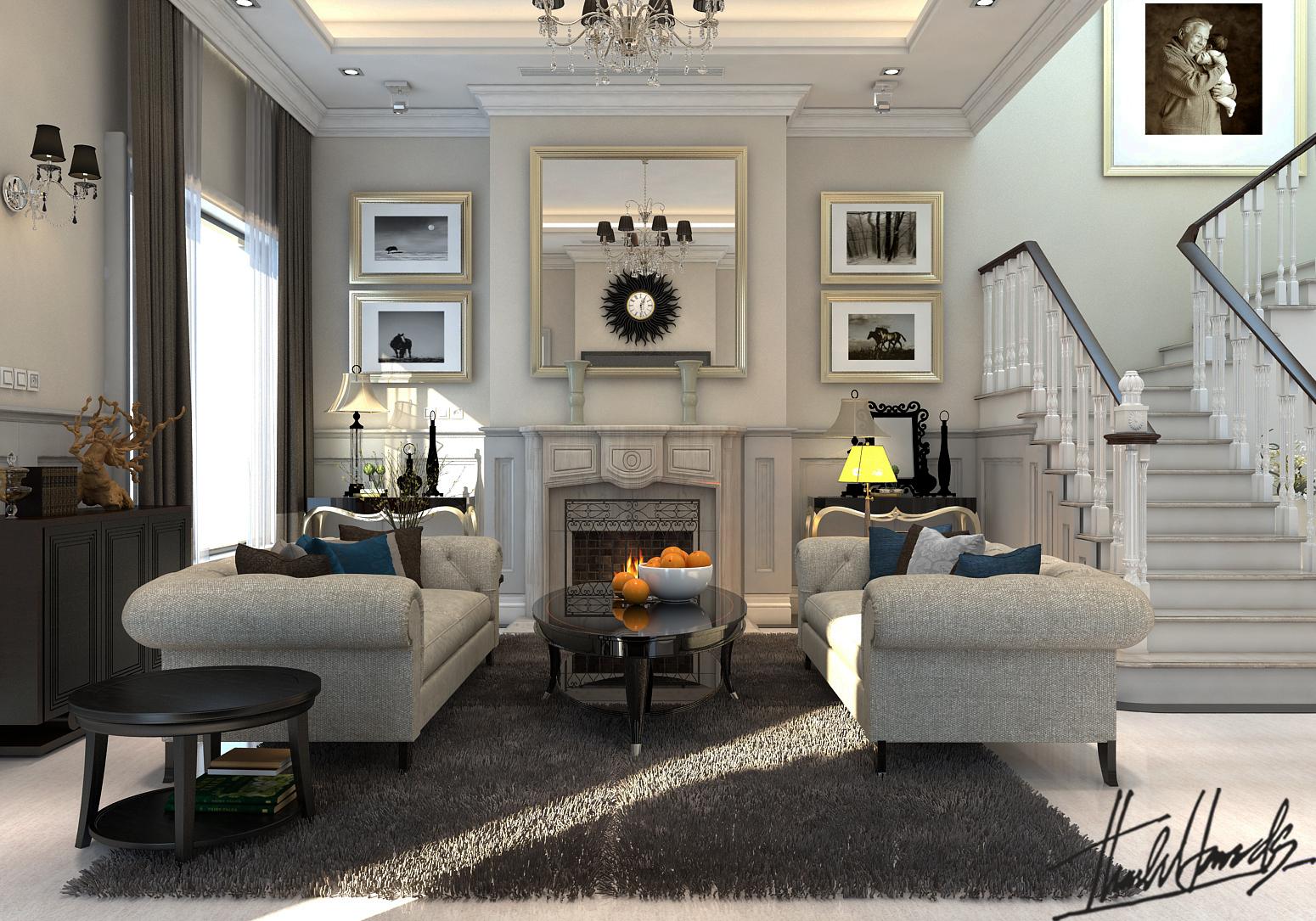 thiết kế nội thất Biệt Thự tại Hà Nội bt Vinhomes - riverside 20 1568274531