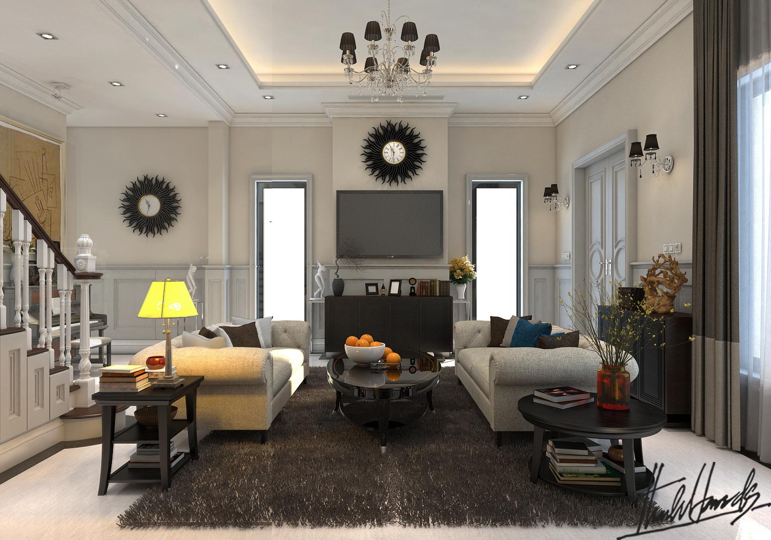 thiết kế nội thất Biệt Thự tại Hà Nội bt Vinhomes - riverside 21 1568274532