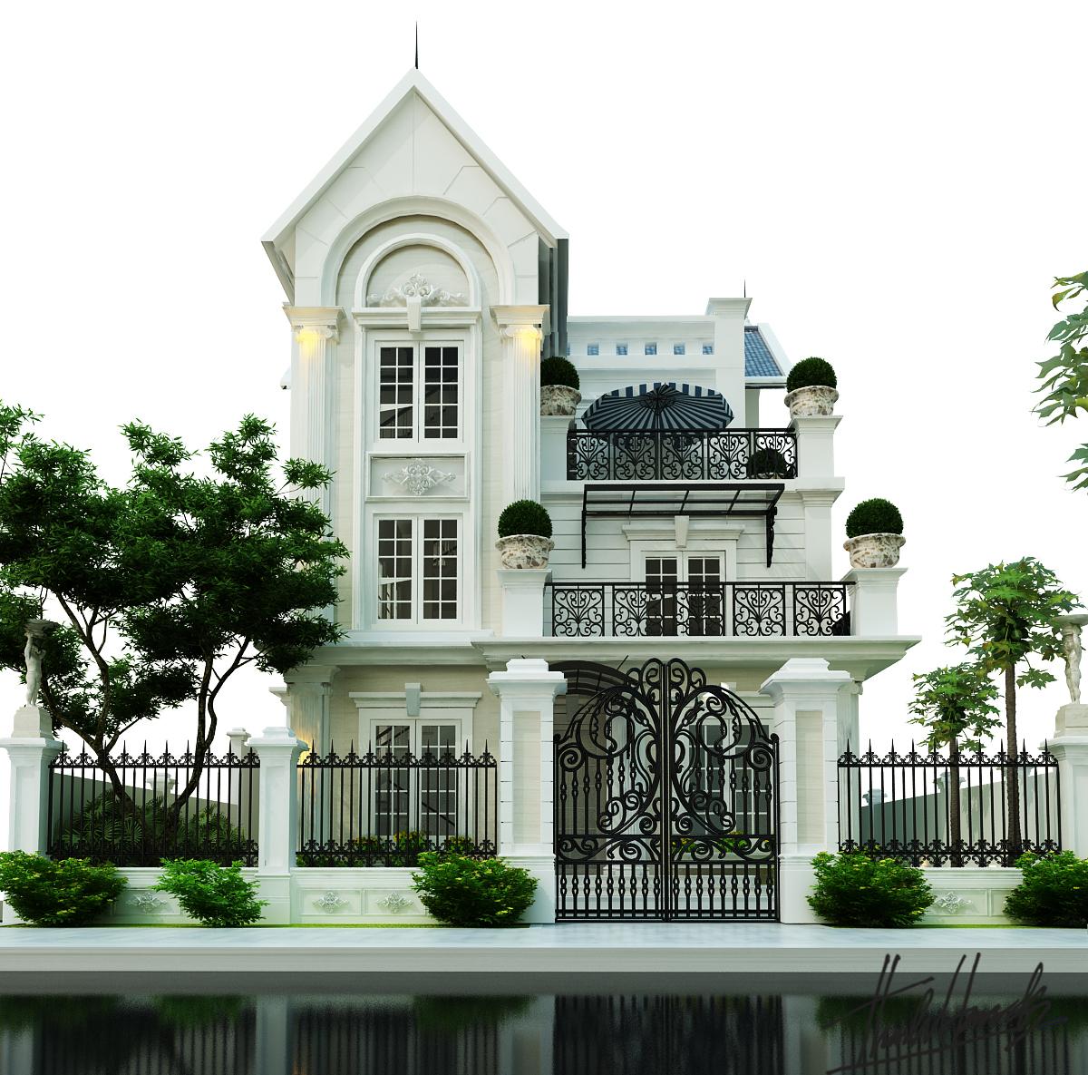 thiết kế nội thất Biệt Thự tại Hà Nội Biệt thự - Việt Hưng  2 1568273816