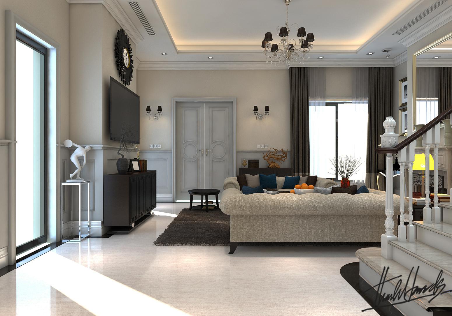 thiết kế nội thất Biệt Thự tại Hà Nội bt Vinhomes - riverside 22 1568274532