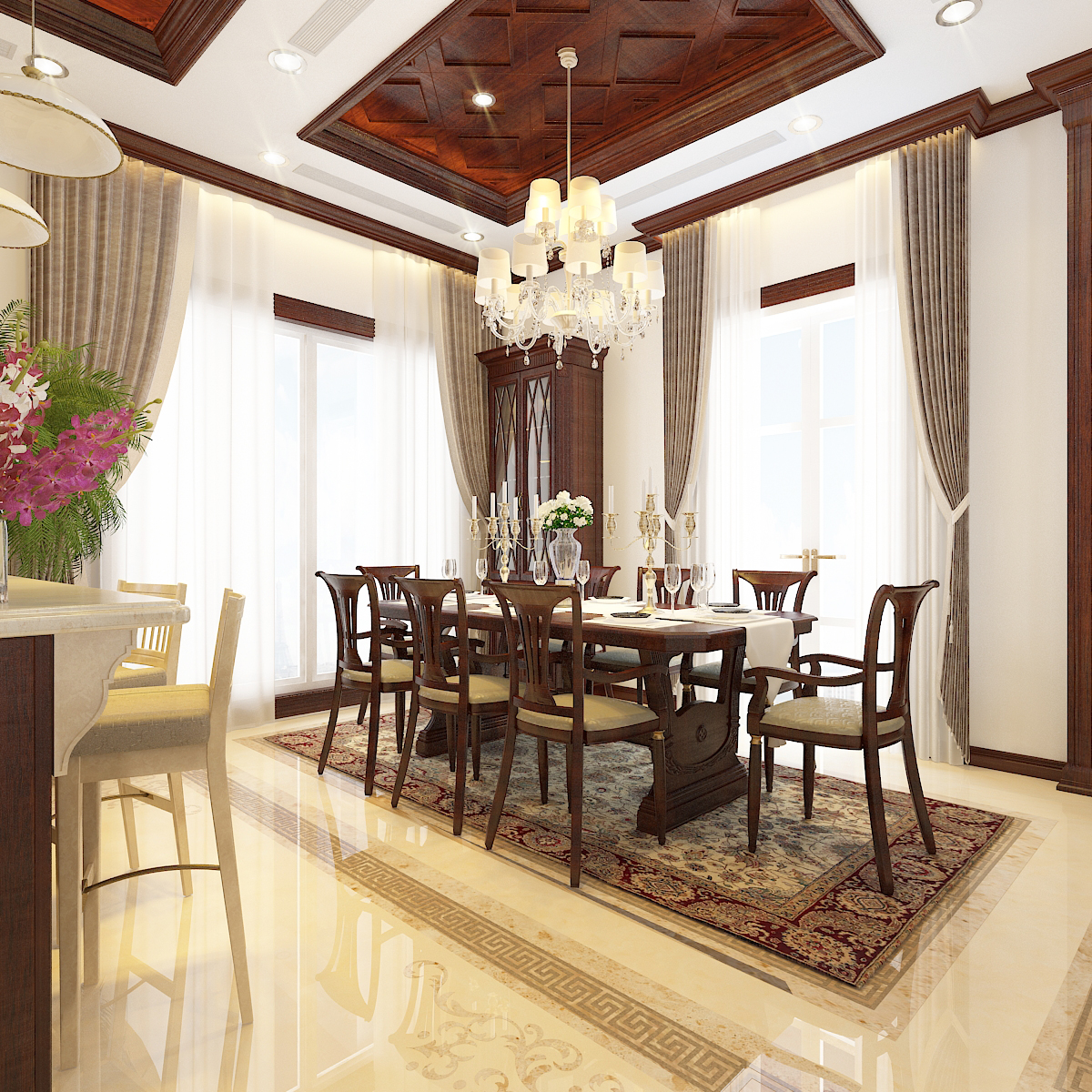 thiết kế nội thất Biệt Thự tại Hà Nội bt Vinhomes - riverside 22 1568276268