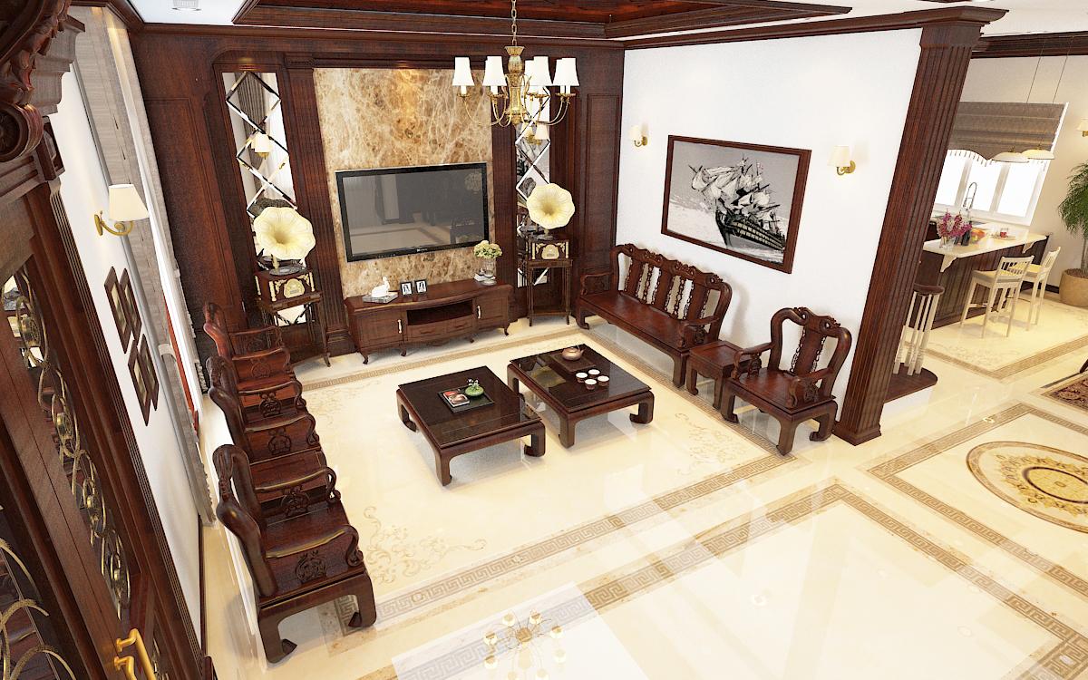 thiết kế nội thất Biệt Thự tại Hà Nội bt Vinhomes - riverside 27 1568276271