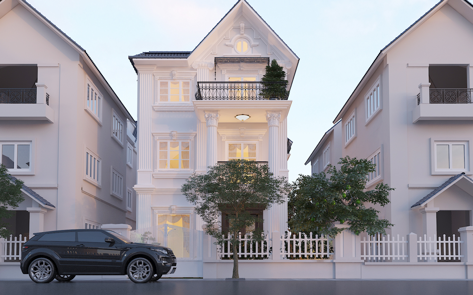 thiết kế nội thất Biệt Thự tại Hà Nội bt Vinhomes - riverside 3 1568276255