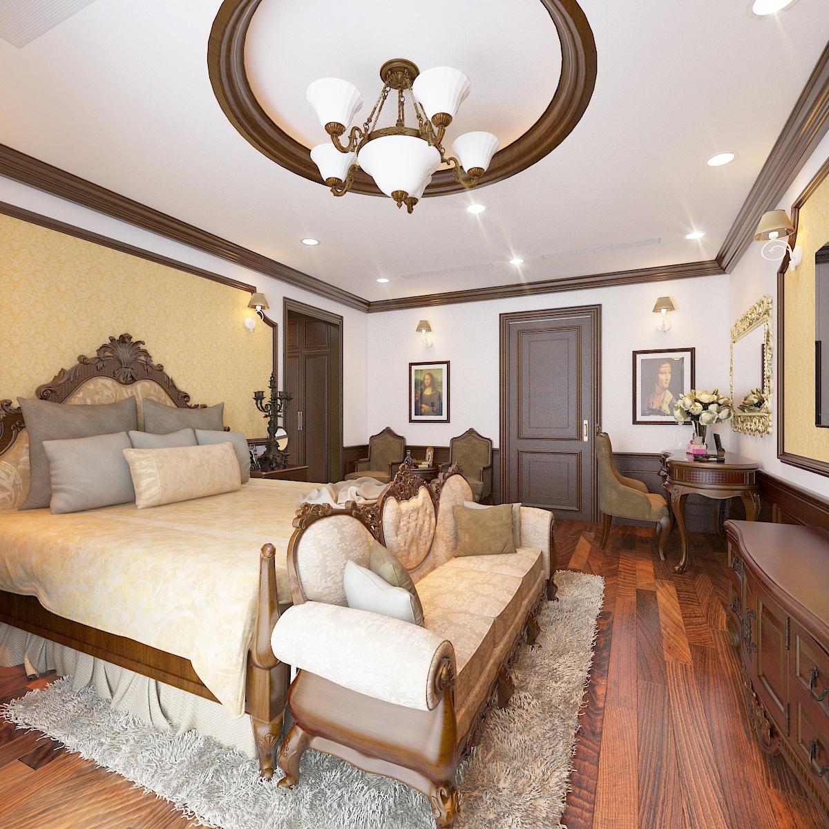thiết kế nội thất Biệt Thự tại Hà Nội bt Vinhomes - riverside 34 1568276274