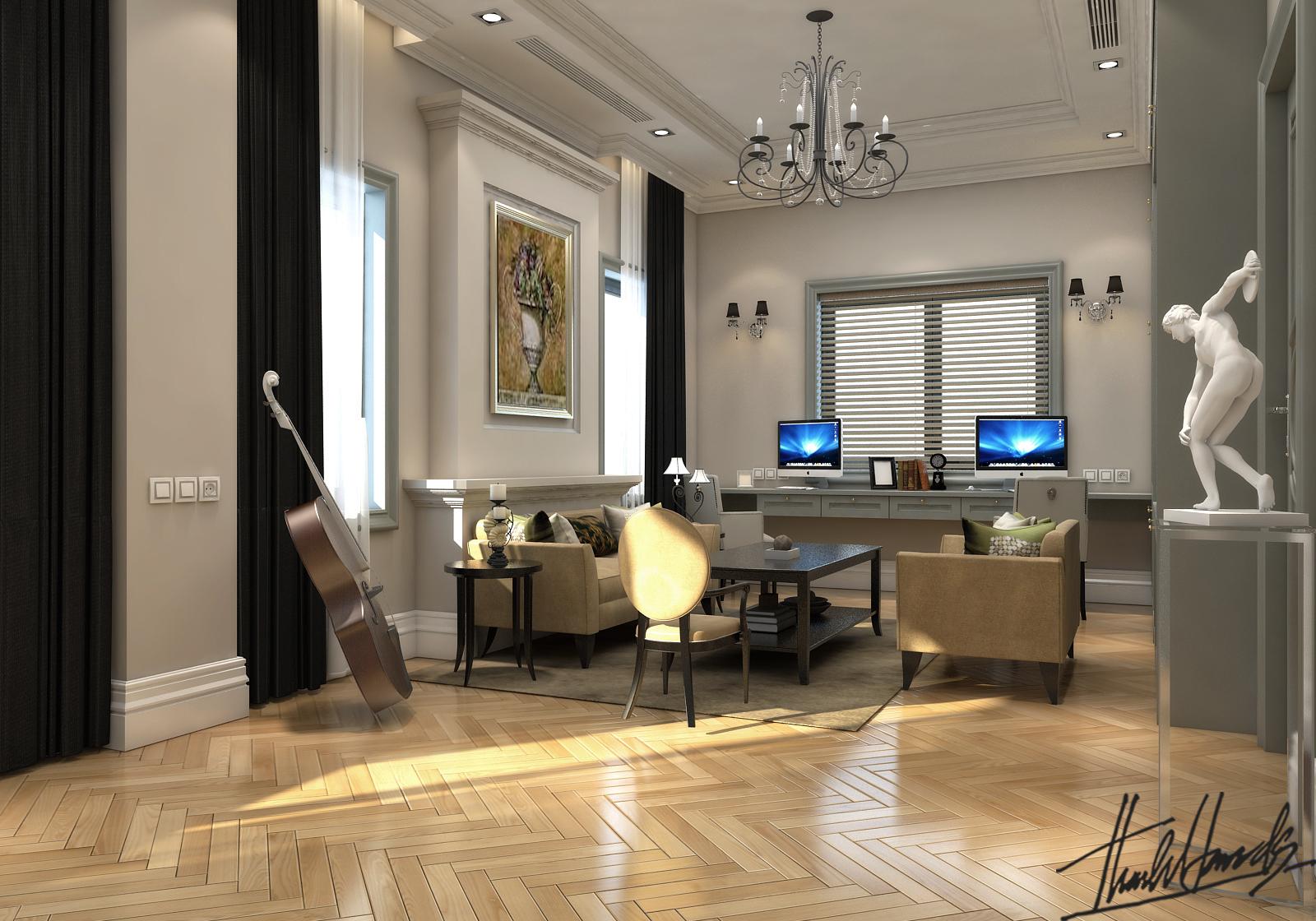 thiết kế nội thất Biệt Thự tại Hà Nội bt Vinhomes - riverside 37 1568274541