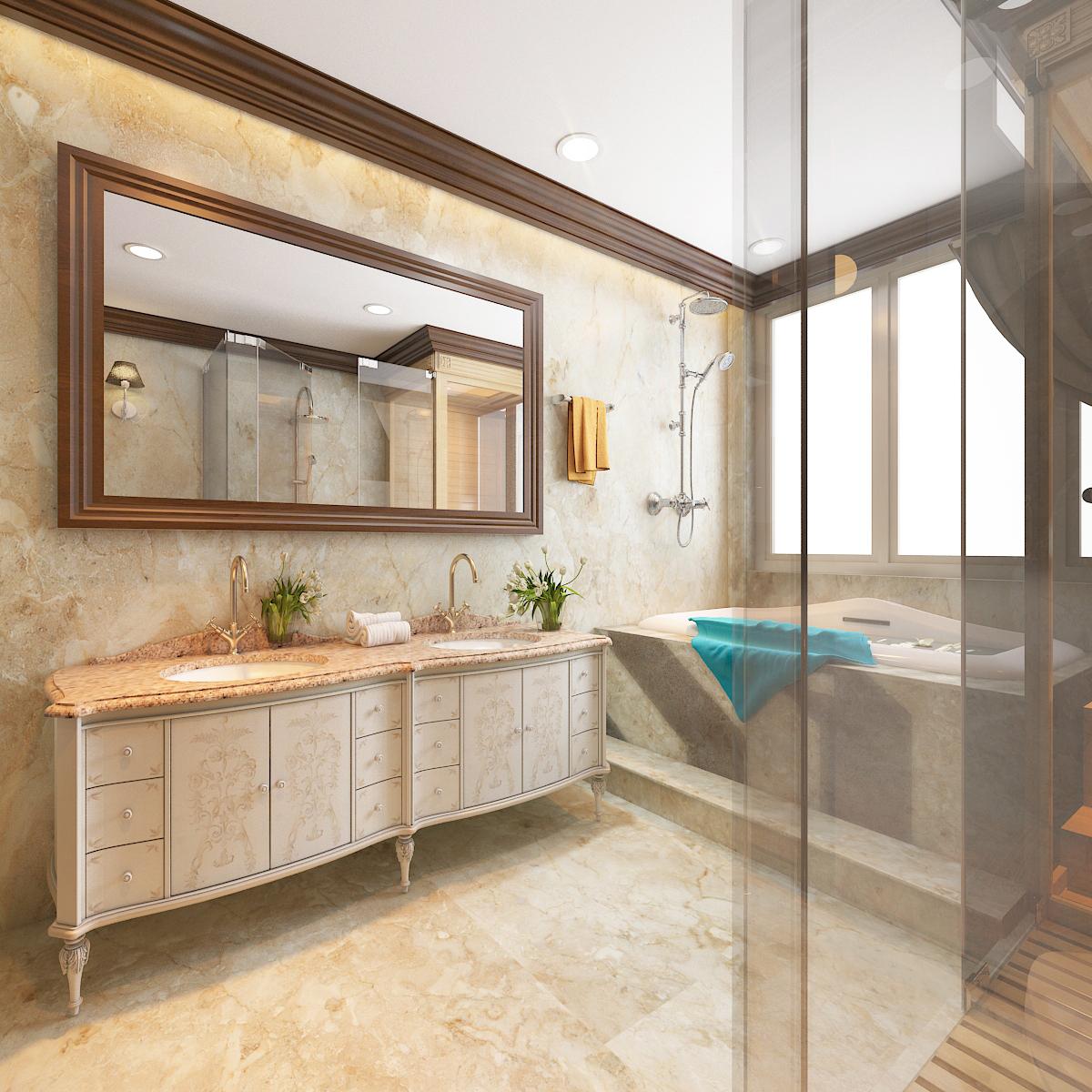 thiết kế nội thất Biệt Thự tại Hà Nội bt Vinhomes - riverside 37 1568276276