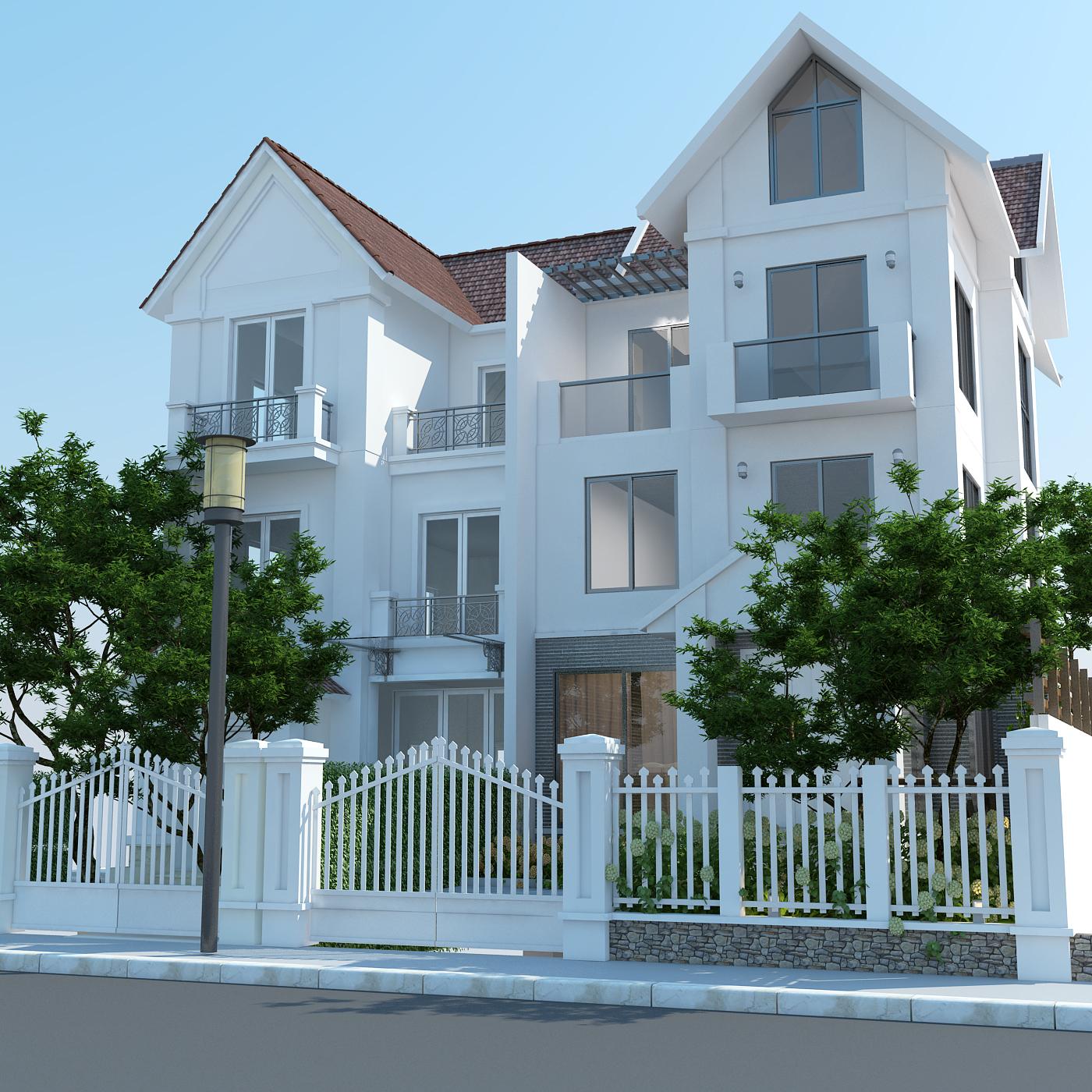 thiết kế nội thất Biệt Thự tại Hà Nội bt Vinhomes - riverside 4 1568085321