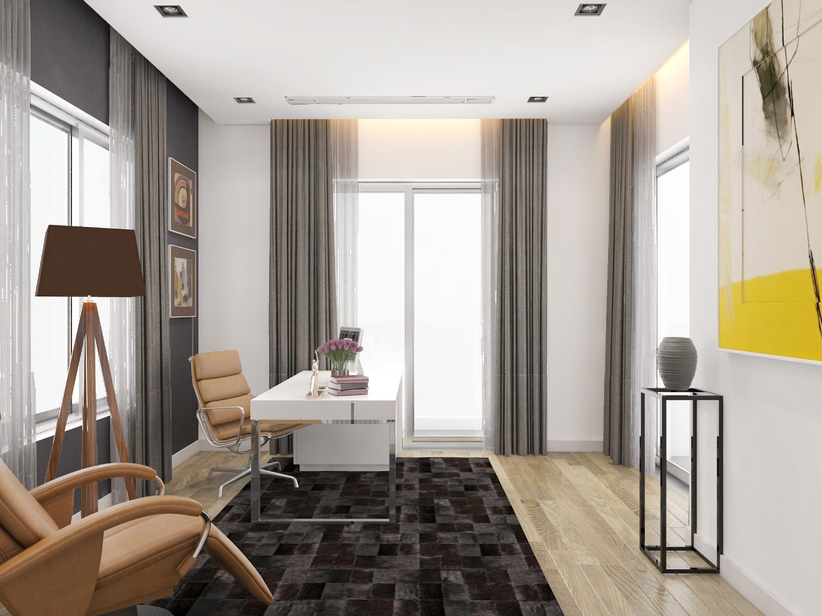 thiết kế nội thất Biệt Thự tại Hà Nội bt Vinhomes - riverside 42 1568085370