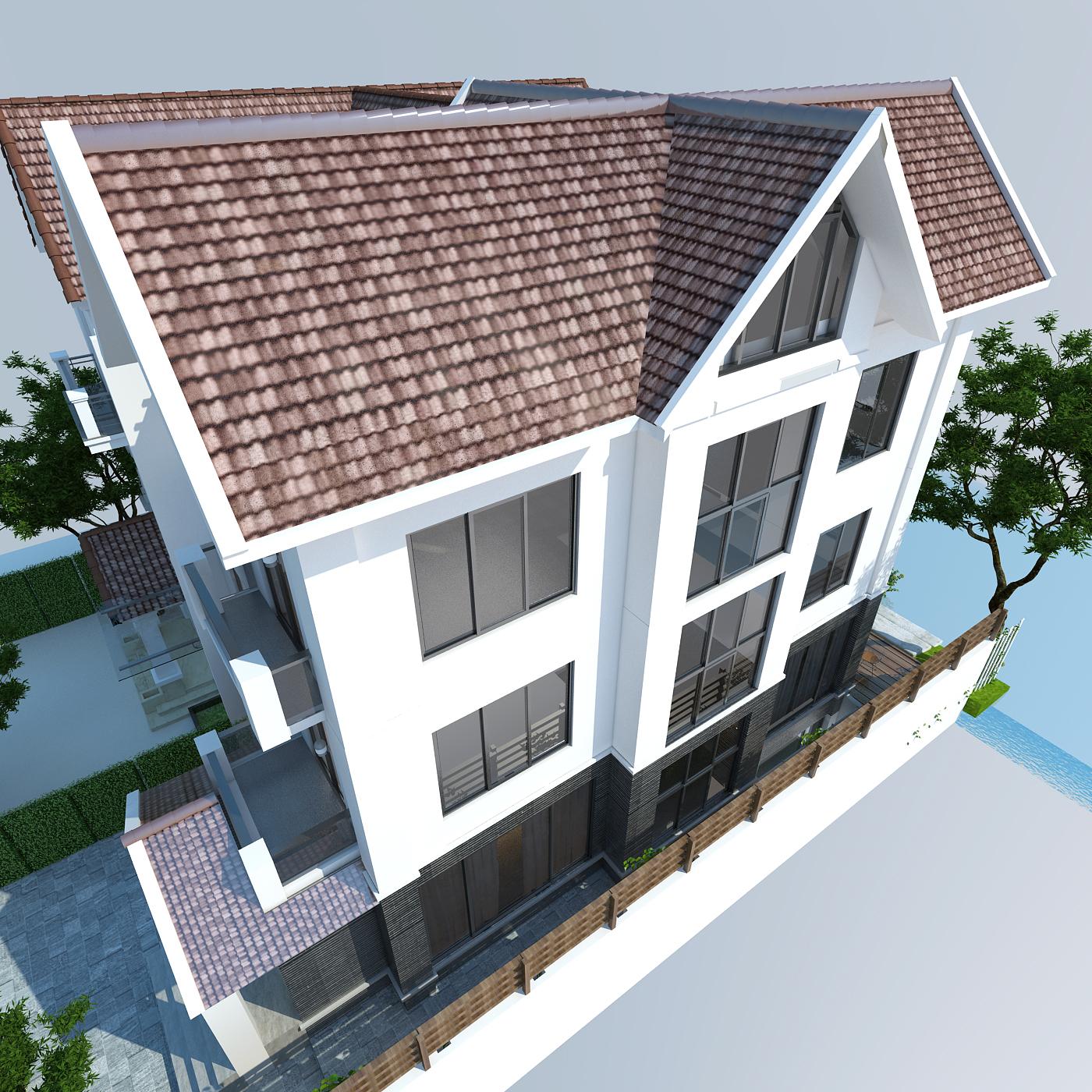 thiết kế nội thất Biệt Thự tại Hà Nội bt Vinhomes - riverside 5 1568085321