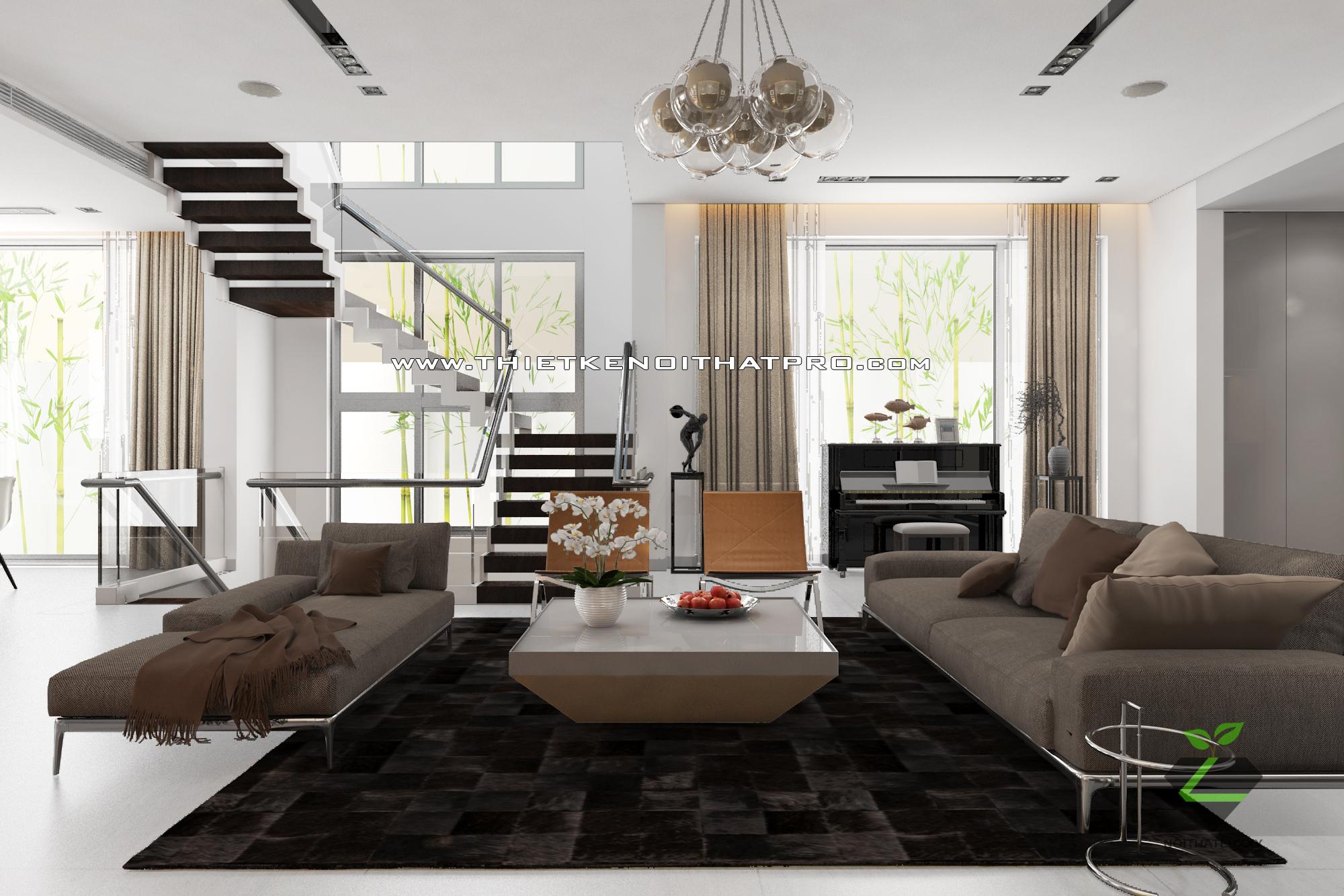thiết kế nội thất Biệt Thự tại Hà Nội bt Vinhomes - riverside 9 1568085335