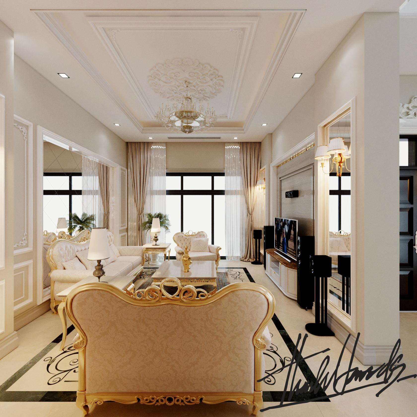 thiết kế nội thất Biệt Thự tại Hải Phòng Biệt thự Vinhomes - imperia ( khu MHT) 16 1568275627