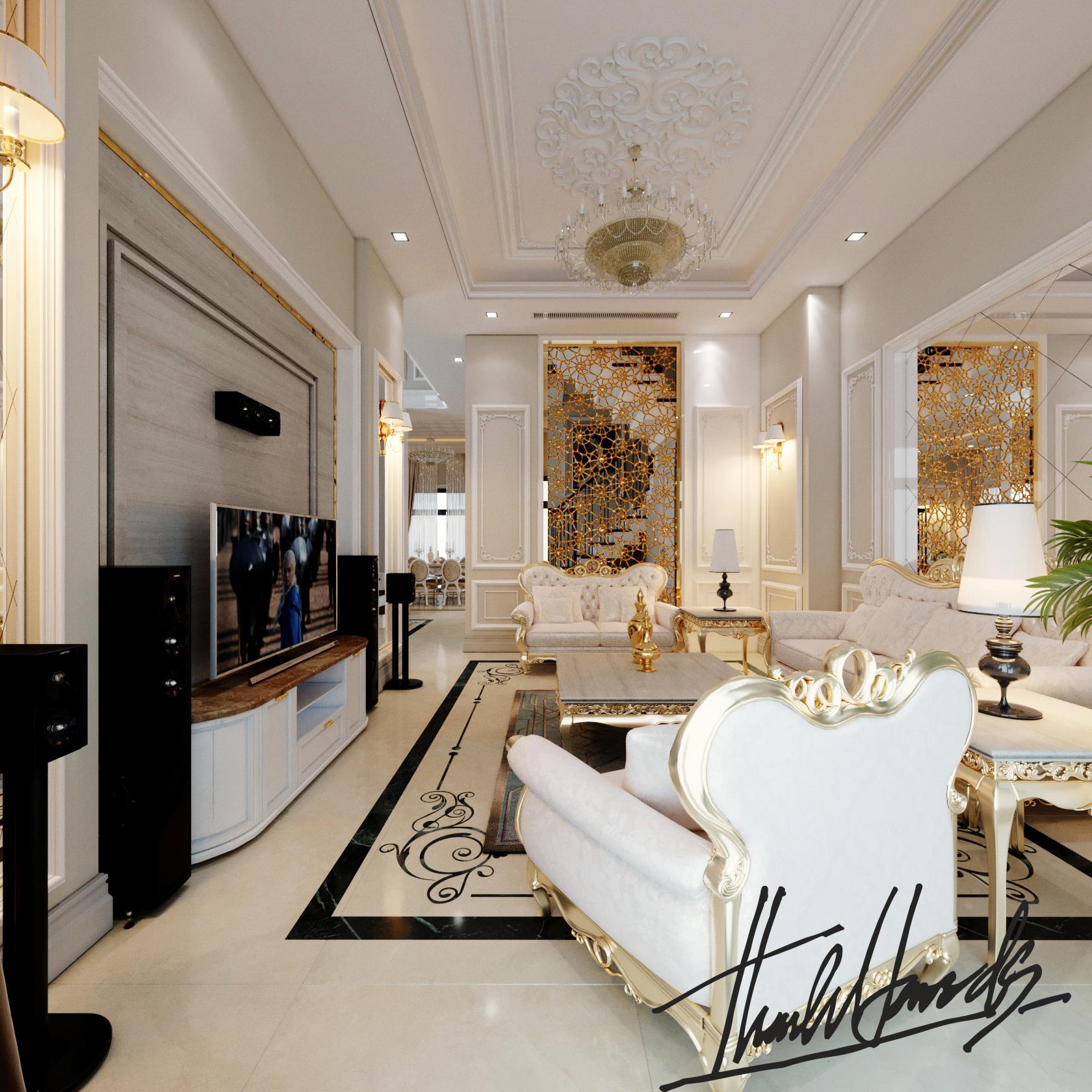 thiết kế nội thất Biệt Thự tại Hải Phòng Biệt thự Vinhomes - imperia ( khu MHT) 17 1568275628