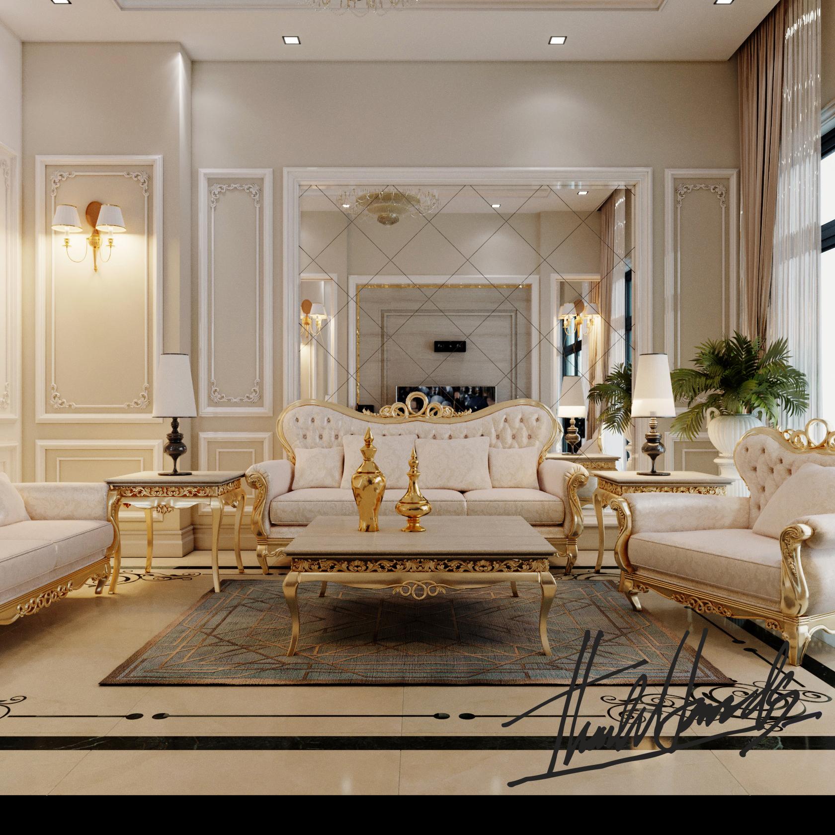 thiết kế nội thất Biệt Thự tại Hải Phòng Biệt thự Vinhomes - imperia ( khu MHT) 18 1568275629