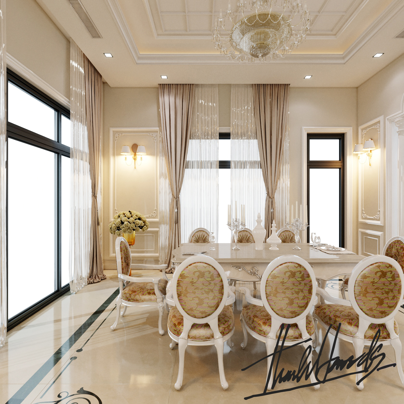 thiết kế nội thất Biệt Thự tại Hải Phòng Biệt thự Vinhomes - imperia ( khu MHT) 20 1568275631