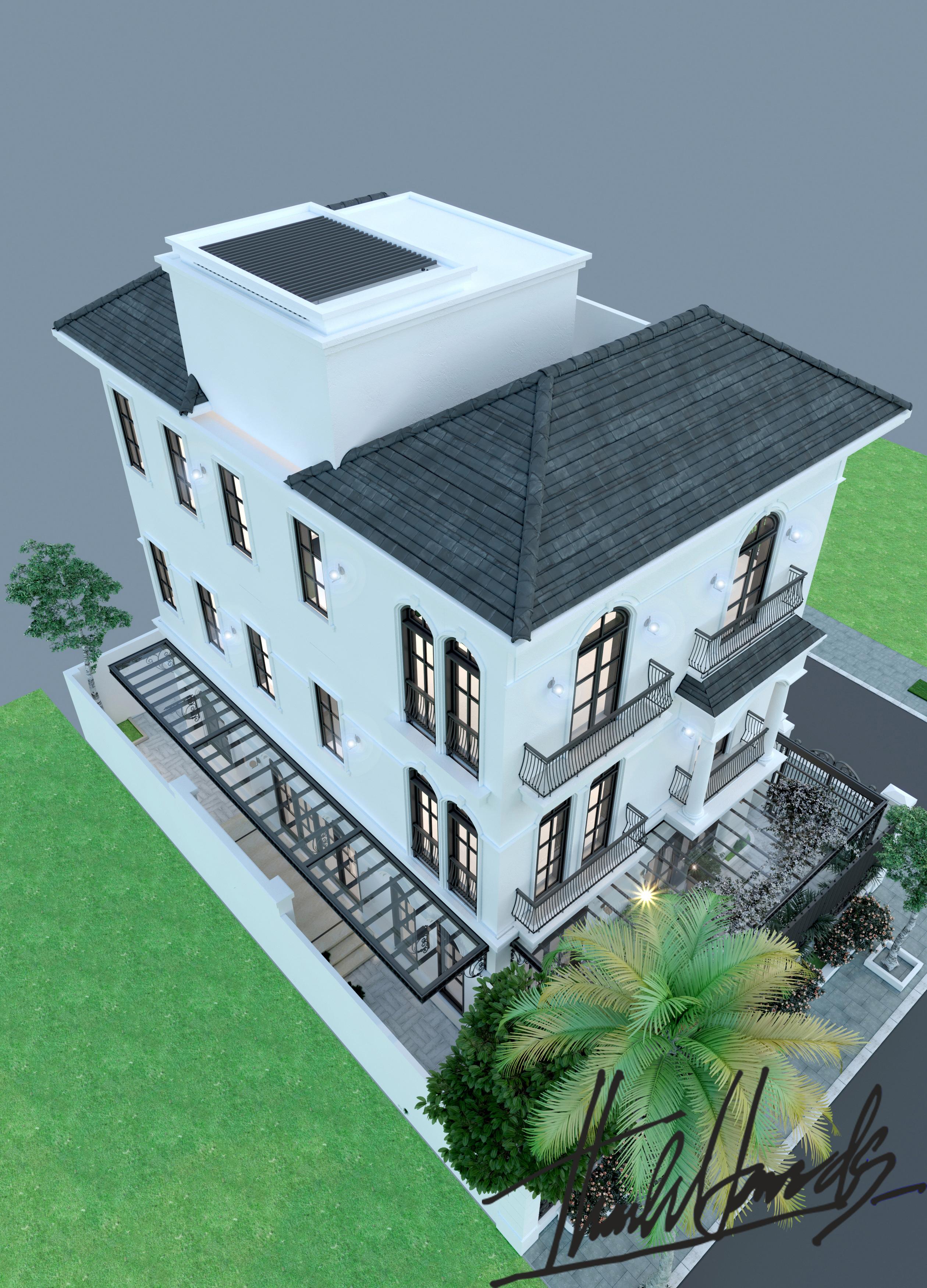 thiết kế nội thất Biệt Thự tại Hải Phòng Biệt thự Vinhomes - imperia ( khu VEN) 2 1568278763