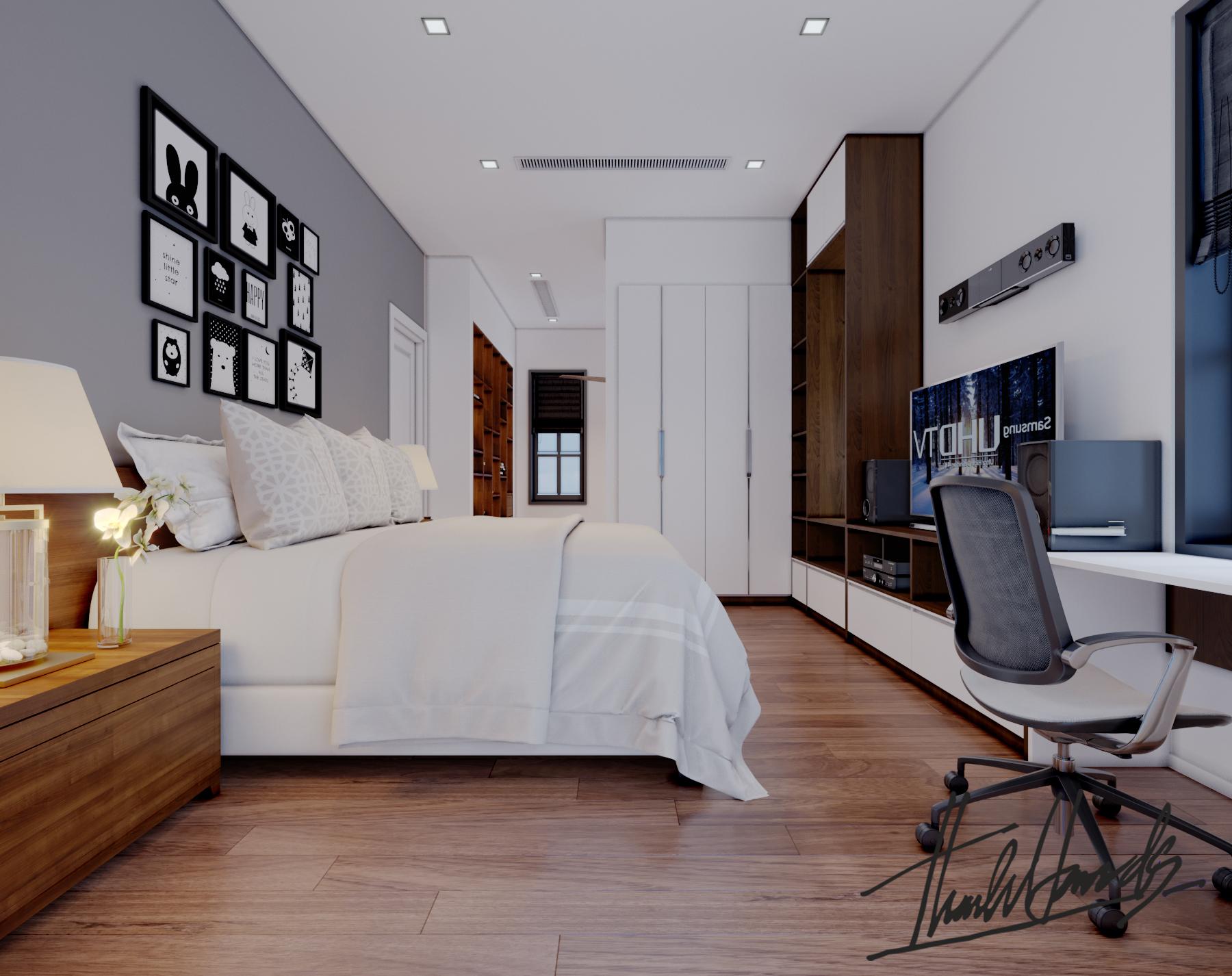 thiết kế nội thất Biệt Thự tại Hải Phòng Biệt thự Vinhomes - imperia ( khu VEN) 25 1568278775