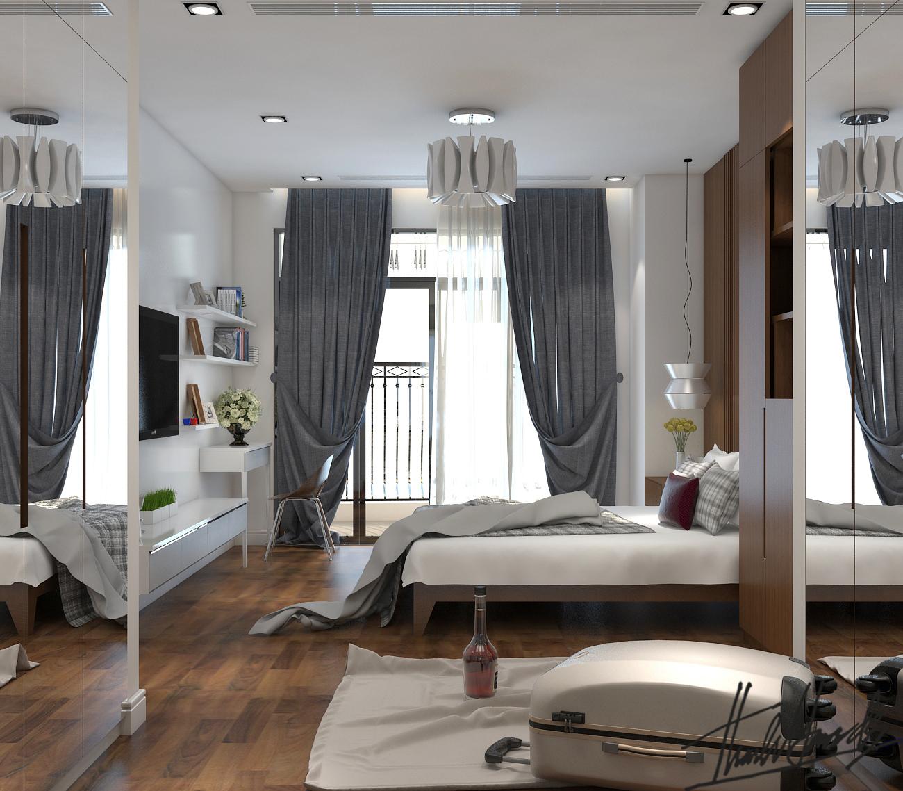 thiết kế nội thất chung cư tại Hà Nội chung cư roya city 16 1568274328