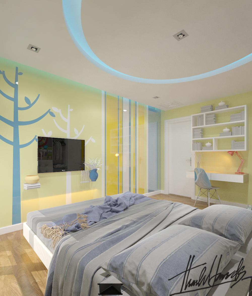 thiết kế nội thất chung cư tại Hà Nội Chung Cư Diamond Flower 18 1568274029